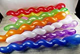Mixed Spiral Latex Balloons for Birthday...