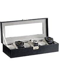 St. Leonhard Uhrenbox: Uhrenschatulle für 6 Uhren, abschließbar (Uhrenkasten)