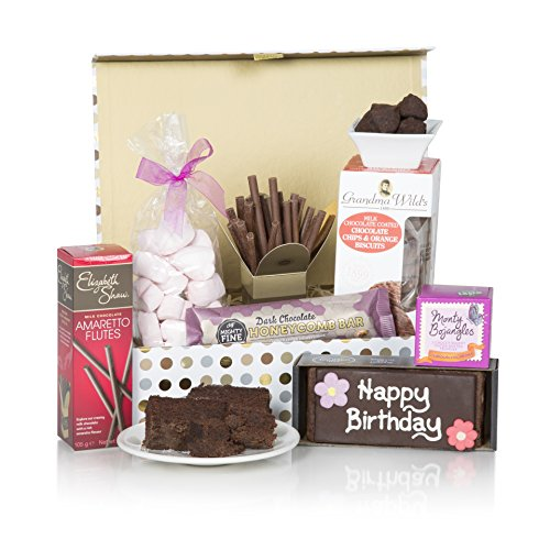 Birthday Treats Hamper For Her - Hampers And Gift Baskets - Chocolates, Biscuits and Tea!