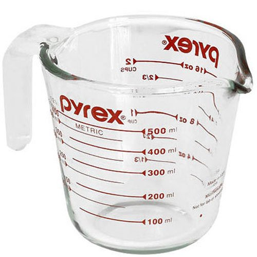 Pyrex Prepware Measuring Cup Clear with Red Measurements (470 ml)