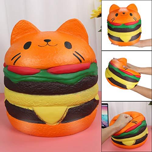 Dkings Squishies Kawaii Jumbo Burger Katze langsam steigende Creme duftete Entlastung Druck Spielzeug Hamburger Essen Spielzeug Schleim Kinder Intelligenz Spielzeug Spiel -