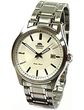 Orient Uhr Classic Automatik white Datum klassische Herrenarmbanduhr FER2C007W0