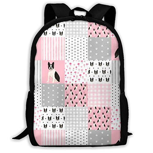 er Quilt Squares Wholecloth Kindergarten Hund Fabric_202 Reisen Laptop Rucksack, Extra Large College School Student Rucksack für Männer und Frauen (Classic Backpack) ()