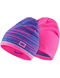 b92786314b5 Nike Women s Junior Beanie reversible knit hat Fuchsia blue