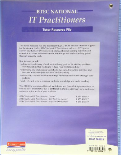 BTEC National for IT Practitioners - Tutor Resource File & CD-ROM: Teachers Resource File and CD-Rom