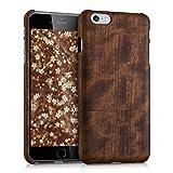 Kwmobile Étui pour Apple iPhone 6 Plus/6S Plus - Coque de Protection en {Bois} pour téléphone Portable - Case {Duro} en {Marron foncé}
