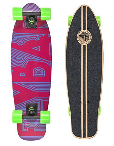 Flybar Unisex Text Cruiser Skateboard aus Holz, Violett, Small/71cm (Holz-cruiser Skateboard)