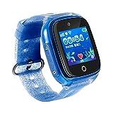 LXFMD Reloj Inteligente para niños Reloj GPS posicionamiento Pulsera Inteligente Paso a Paso Control del sueño niños y niñas Lindos (Color : Azul)