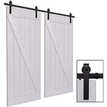 ccjh 12ft 363cm quincaillerie kit de rail roulettes pour. Black Bedroom Furniture Sets. Home Design Ideas