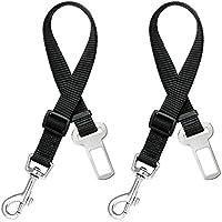 Cane Cintura di sicurezza (2pcs / pack), MAXIN regolabile cane del gatto dell'animale domestico di sicurezza conduce Sedile auto cablaggio della cinghia Seatbelt- nero
