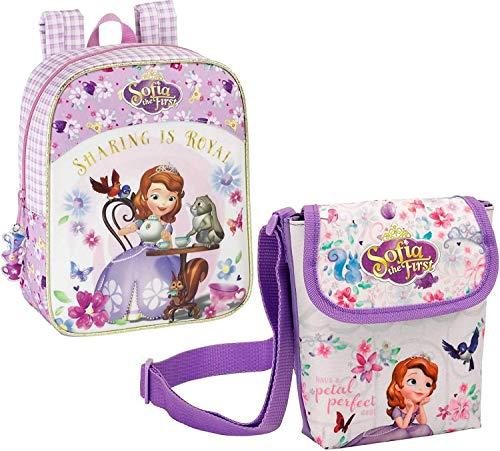 Disney Prinzessin Sofia die Erste Mini Rucksack und Schultertasche, rosa/lila