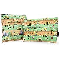 Ava & Kings bolsas de respetuoso con el medio ambiente reutilizable para guardar comida Sandwich Wrap w/fiambrera Aislante tela–Ideal para la escuela, trabajo, Picnic Alimentos, niños y niñas–tamaños: 7x 7en & 6x 9en–gran variedad de diseños