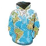 Best Fresca camisetas con capucha en los mundos - ZhiXing Mapa del Mundo 3D Suéter, Sudadera con Review