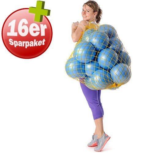 TOGU 16 Redondo Bälle 22 cm plus Ballnetz Pilates Gymnastik Soft blau