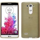 PhoneNatic Case für LG G3 S Hülle Silikon gold, brushed + 2 Schutzfolien