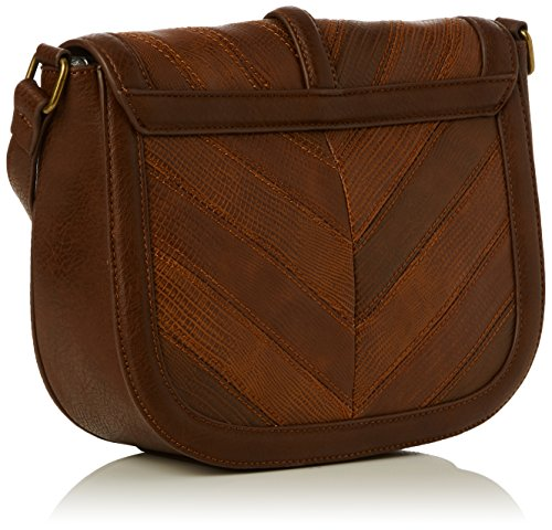 French ConnectionPatchwork Persia X-body - Borsa a tracolla donna Marrone (Marrone (Tan))