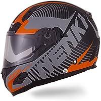 Nenki Helme NK-856 Full Face Motorradhelme, Glasfaser schale,ECE-geprüft, mit Doppelvisieren