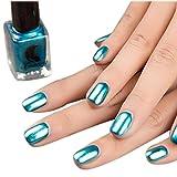 Coolster Nagellack Top Coat Nail Lightener Spiegel Metall Farbe Nail Lack Gel -Blau
