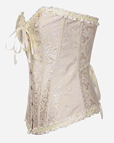 ... HLGO reizvolle Wäsche der Frauen schnüren sich oben Satin-entbeintes  Korsett mit G-Schnur ...
