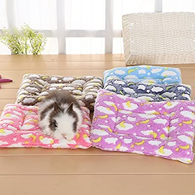 FLAdorepet Small Animal Guinea Pig Hamster Bed House Winter Warm Squirrel Hedgehog rabbit Chinchilla Bed mat House Nest Hamster Accessories from FLAdorepet