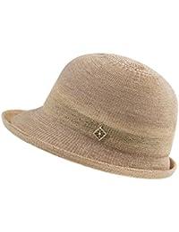 QZ HOME Sombrero De Paja Sra. Primavera Y Verano Sombra Protección Solar  Playa Viaje Sombreros Sombrero De Cuenca Jugador De Bolos… cbd1c9a48f3