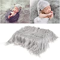 Baby Newborn Fur Photography Photo Props Blanket rug Background Backdrops - Grey