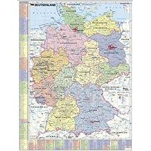 Deutschland pol. mit Suche-/Finderegister (Kfz-Kennz./LKR): Wandkarte - Poster