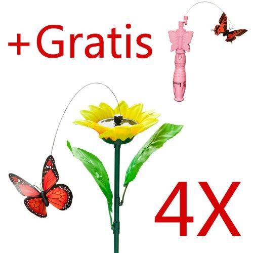 SoBuy® Mariposa decoración/accesorio para jrdin,de solar,Artístico con Mariposa,EGS01/25310