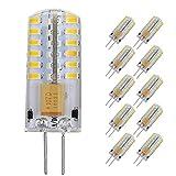 Pocketman Paquete de 10 3 Watt AC/DC 12V G4 Bombillas LED...