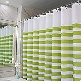 Liudaye Wasserdicht und Mehltau-Nachweis Streifen Polyester Bad Duschvorhang
