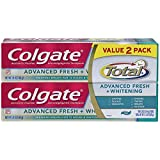 Colgate Total Advanced Fresh + Whitening Gel Toothpaste, 5.8 Ounce (Pack of 2) by Colgate