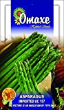 Go Green Omaxe Asparagus Exotic Seeds Uc - 157 Seeds (Pack of 20 each, 3 Packets)