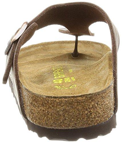 Birkenstock Damen Gizeh Flip-Flops Braun (Brun Foncé)