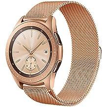 Circle para Samsung Galaxy Watch 42mm Correa, 20 mm Milanese loop Correa de acero inoxidable