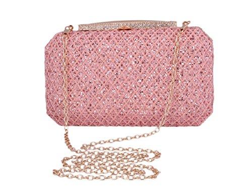 Day Of Saturn Fashion Ladies Glitter Party Clutch Paillettes Borsa Da Sera Oro