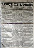 Telecharger Livres REVUE DE L OUEST No 95 du 09 08 1853 JOURNAL POLITIQUE ET D ANNONCES (PDF,EPUB,MOBI) gratuits en Francaise
