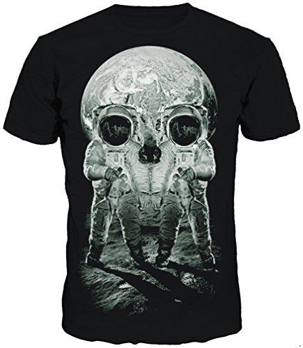 TDOLAH Herren Slim Fit 3D Farbspritzer Druck Muster T-Shirts Kurzarm Top (L (TAG XL/2XL ), Astronauten) (Superhelden Nerd Kostüm)