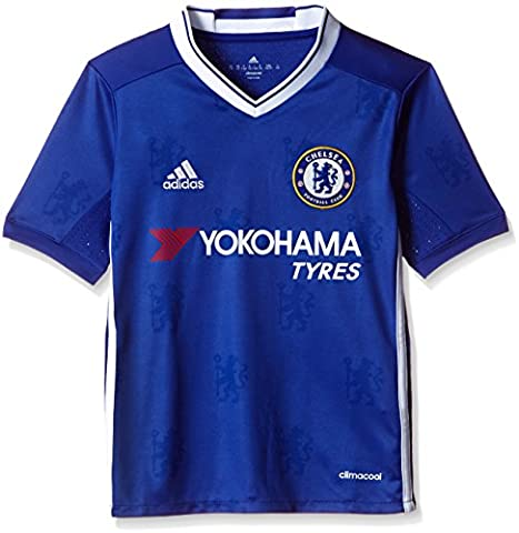 adidas Jungen Fußball/Heim FC Chelsea Replica Trikot, Chelsea Blue/White, 152