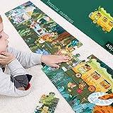 Holzpuzzle 48 Puzzleteile Kinderpapier Baby Kleinkind Puzzle Lernspielzeug für Kinder Lernspielzeug für Jungen und Mädchen von 3-6 Jahren,B