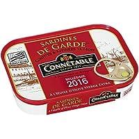 Connétable Sardine de garde, sardines confites et affinées 12 mois, huile d'olive vierge extra La boîte de 115g...