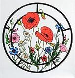 Statique décoratif pour fenêtre effet vitrail Accroche Dans Une Cornfield Motif fleurs