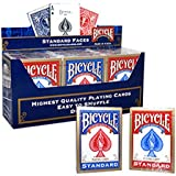 12 Mazzo BICYCLE Standard (6 Blu / 6 Rosso)