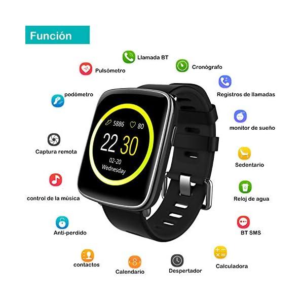 Willful Smartwatch con Pulsómetro,Impermeable IP68 Reloj Inteligente con Cronómetro, Monitor de sueño,Podómetro,Calendario,Control Remoto de música,Pulsera Actividad para Android y iOS 2
