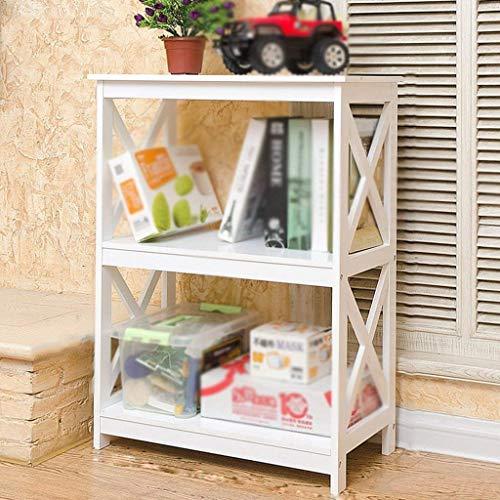 CNSJ Regale Organizer for Bücher Bücherregal Regalenden Regal Koreanisch Kreativ Bodenstehend Wohnzimmer Schlafzimmer Modern Zeitgenössisch Minimalistisch Stark Robust (Color : White)