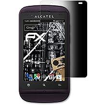 Alcatel One Touch 918D Blickschutzfolie - atFoliX FX-Undercover 4-Wege Sichtschutz Blickschutzfilter Displayschutzfolie