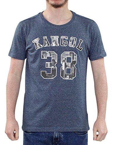 Neue jungen Poly Cotton T Shirt Kangol gebrandmarkt gedruckte Kinder lässig Kinder Top Rocka - Navy