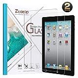 Ztotop Pellicola Vetro Temperato per iPad 2 3 4 (Modelli più Vecchi), 9H Vetro Temperato Protezione dello Schermo per iPad 2, iPad 3 e iPad 4 - (2-Pezzi)