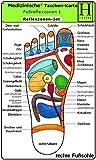 Reflexzonen Set - Medizinische Taschen-Karte: Fussreflexzonen Therapie Fusssohle, Fussrücken + Aussenseiten…