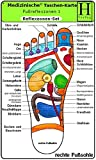 Reflexzonen Set - Medizinische Taschen-Karte: Fussreflexzonen Therapie Fusssohle, Fussrücken + Aussenseiten /Handreflexzonen Therapie -