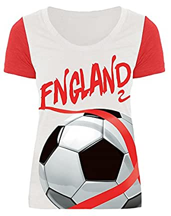 1c0ef466c95 For G and PL Women Football Team Soccer Sport T Shirt Tops  Amazon.co.uk   Clothing
